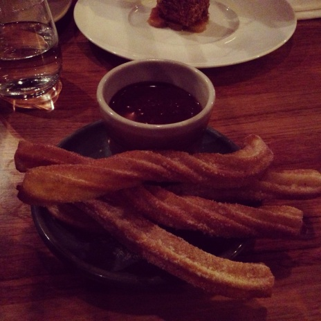 Churros con chocolate :)