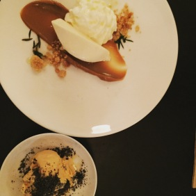 Sweet treats: 'Three Milks' and Salted Caramel Semifreddo